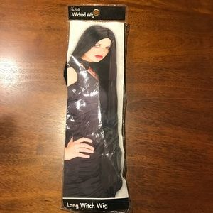 Accessories - Long, Black Witch Wig